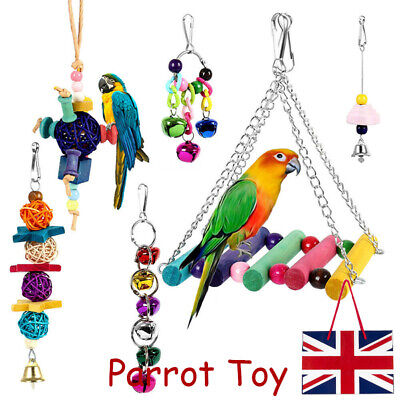 6 Pack Beaks Metal Rope Small Parrot Toy Budgie Cockatiel Cage Bird Toys Set