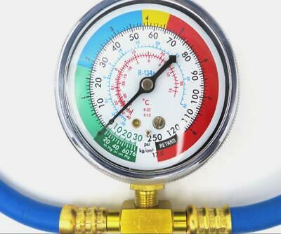 Auto A/C Refrigerante Ricarica Measuring Hose Gauge  Manometro Kit R134A 110mm