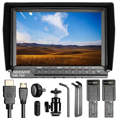 Neewer NW760 Ultra HD 7 Inches 1920x1200 IPS Screen Camera Field Monitor