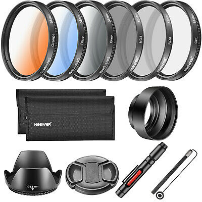 Neewer 58MM Lens Filter and Accessory Kit, Includes CPL ND4 ND8 Filter etc.
