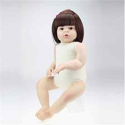 28'' Toddler Lifelike Baby Girl Doll Silicone Vinyl Reborn Newborn Doll Toy Gift