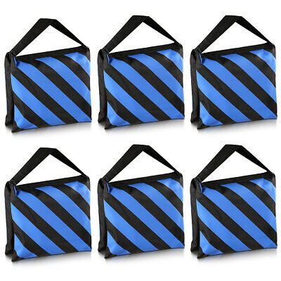 Neewer 6 Pack Black/Blue Sand Bag Photography Studio Video Stage Film Saddlebag