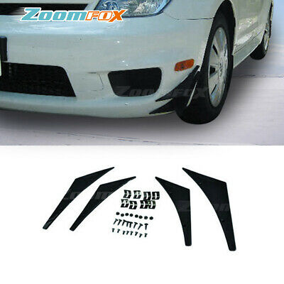 Pair Front Bumper Side Lip Splitters Spoiler Winglet Blade Spats For  Mitsubishi