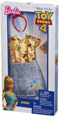Toy Story 4 Barbie Woody Top And Overall Dress Outfit NEW