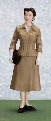 Poly resin Dolls house figure 30/40's Lady