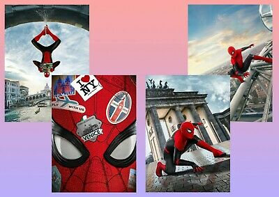 Marvel Comics: Spider Man Far From Home,  A5 A4 A3 Textless  Movie - DVD Posters