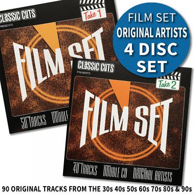 Classic Cuts Film Set Movie Theme and Songs 90 Tracks 4 CD's Original Recordings
