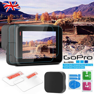 LCD Screen Lens Cap + Tempered Glass Screen Protector For GoPro Hero 5 6 7