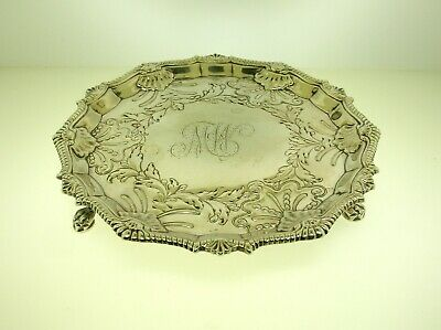 """1764 Francis Crump, London Sterling Silver Footed  6 7/8"""" Plate  - Best Offer!!!"""