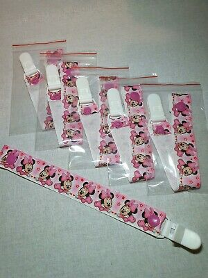 Dummy/Pacifier clip. Our cutest ribbon from Florida. Baby Minnie. All clips 2.50