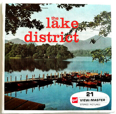 3x VIEW MASTER REEL / THE LAKE DISTRICT / ENGLAND / UK / WINDERMERE / CONISTON