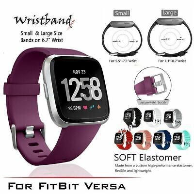 For Fitbit Versa Silicone Replacement Wrist Watch Strap Band For Yoga,Fitness