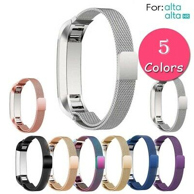 For Fitbit Alta / Alta HR Magnetic Milanese Stainless Steel Watch Band Strap CA