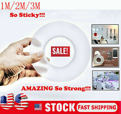 USA Magic Double-sided Tape Traceless Washable Adhesive Tape Nano Invisible Gel