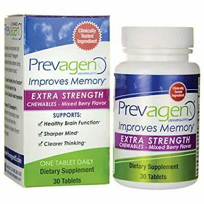 Quincy Bioscience Prevagen Extra Strength Chewables - Mixed Berry, Pack of 30
