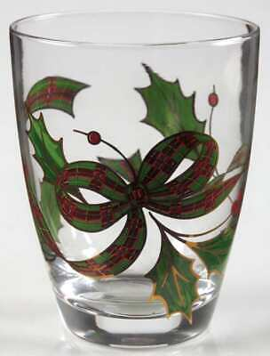 Lenox HOLIDAY (PLAID RIBBON) Double Old Fashioned Glass 2053916