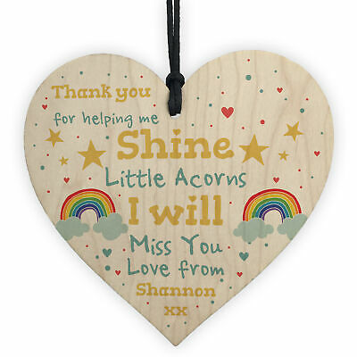 Personalised Gift For School Nursery Wooden Heart Personalised Teacher Assistant