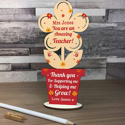 Personalised Teacher Gifts Thank You School Nursery Pre School Leaving Present