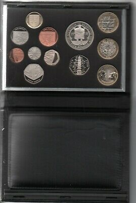 2009 UK Royal Mint DELUXE PROOF Leather Bound 12 Coin Set - Kew 50p