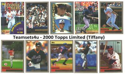 2000 Topps Limited (Tiffany) Baseball Set ** Pick Your Team ** See Checklist