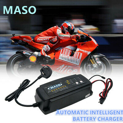 Automatic Smart 12V Car Battery Charger 2/4/8 A Van Bike Motorcycle Marine Boat