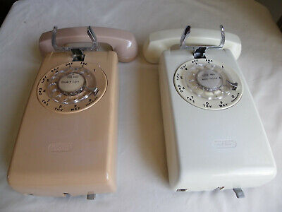 Lot Of 2 Bell System Western Electric No 554 Bmp Wall Rotary Phone Telephone