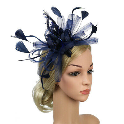 UK Flower Fascinator Headband Wedding Hair Accessories Ladies Race Royal Ascot