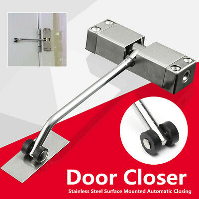 Surface Mounted Automatic Door Gate Closer Spring Loaded Fire Rated Adjustable