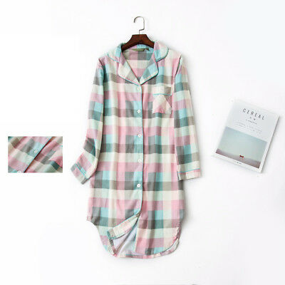 Casual Nights Women's 100% Cotton Long Sleeve Nightgown Sleep House Dress Gown