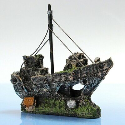 Ship Landscape Aquarium Fish Tank Ornament Wreck Sailing Boat Decor New Use Hot