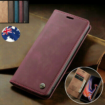 For Samsung S10 5G S9 S8 Plus S7 Edge Leather Flip Wallet Case Card Stand Cover