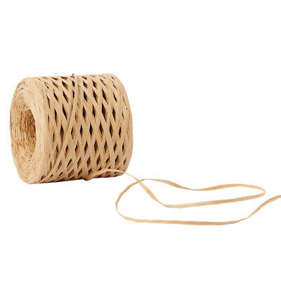 200 Meter Raffia Paper Ribbon Cord Rope for Gift Wrapping Scrapbooking Coffee AU