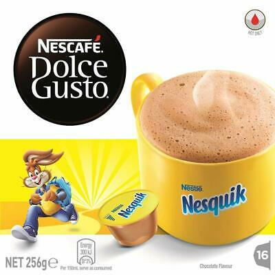 NESCAFE Dolce Gusto Nesquik Chocolate Coffee Pods 16 Capsules Free Delivery