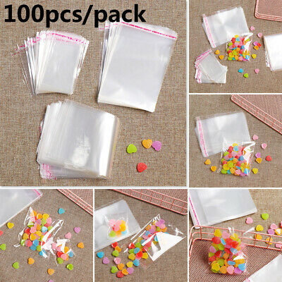 Transparent Self Adhesive Seal Bags OPP Plastic Cellophane Bags Gifts Candy Bag