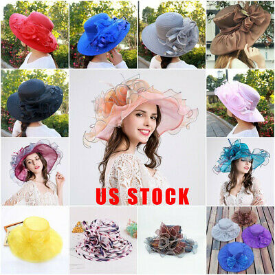 UK LADIES WOMENS WIDE BRIMMED FLOPPY FOLDABLE STRAW SUMMER SUN BEACH WEDDING HAT