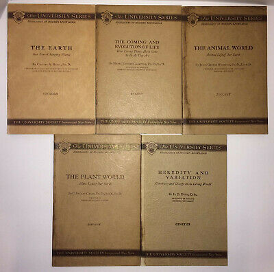 "Vintage ""The University Series Highlights of Modern Knowledge"" 5 Book Lot 1930s"