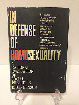 In Defense of Homosexuality, Male & Female 1965 R. O. D. Benson 1st Ed. VG HC