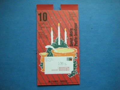 Canada#1342 BK#133 MNH Booklet 'Christmas 1991' Lot#W34