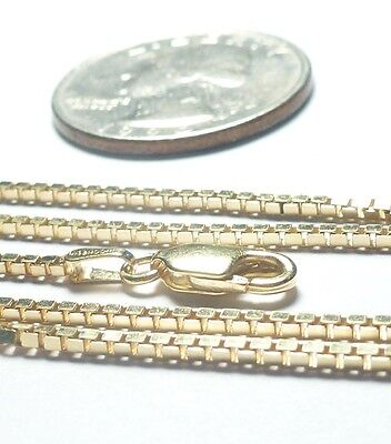 14kt Gold 24 inch 1.4MM SQ BOX Chain White or Yellow Gold Lobster-FREE SHIPPING!