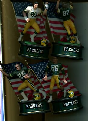 Green Bay Packers 1996  Hallmark 6 Inch Centennial Olympic Statue Lot Of 4 Diff