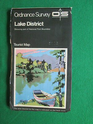 Lake District Tourist Map - Os Ordnance Survey One Inch Map - 1974