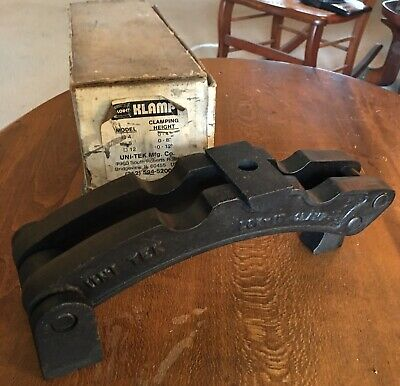 "Vtg Machinist Lok-It Klamp 8"" Work Hold-Down Clamp 0-8"" Clamping Height Capacity"