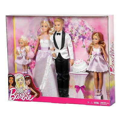 Barbie Wedding Gift Set 4 Dolls and Accessories Playset