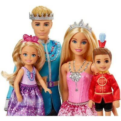 Barbie Dreamtopia Family 4 Dolls Chelsea, Ken and Notto Playset