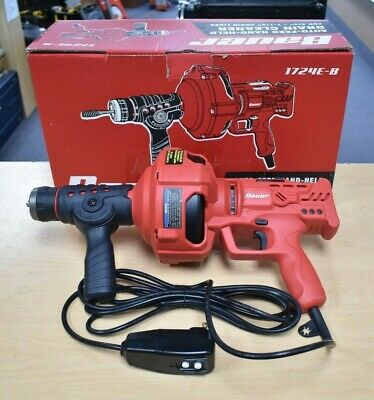 *Bauer 1724E-B 23 Ft. Auto-Feed Handheld Electric Drain Cleaner Pre-owned