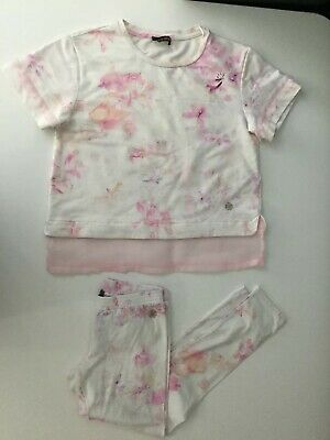 Roberto Cavalli, Girls, Outfit Set, Age 8 Years, Short Sleeve Top And Leggings.