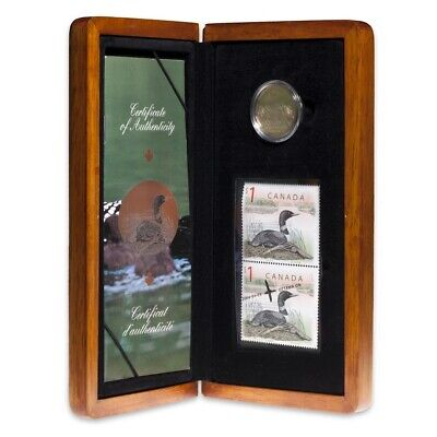 Canada 2004 $1 Elusive Loon Limited Edition Coin & Stamp Set with COA + Box