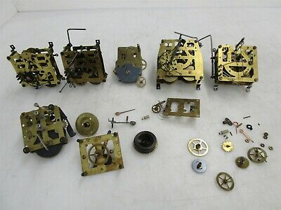 Assorted Clock Parts Regula Syracase Hubert Gear Wind