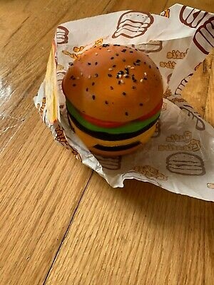 Cutiecreative fast food Double layered burger squishy! Super slow Creamiicandy