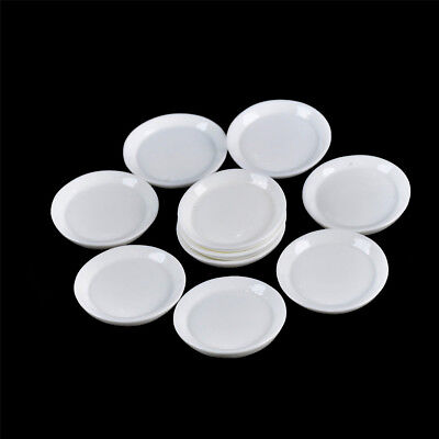 10pcs Dollhouse Miniature Resin Trays Plates Doll Mini Food Dishes Tableware WD